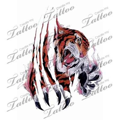 clip transparent download Marketplace Tattoo Tiger tearing through skin