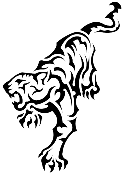 clipart freeuse library Tribal Tiger Drawing at GetDrawings