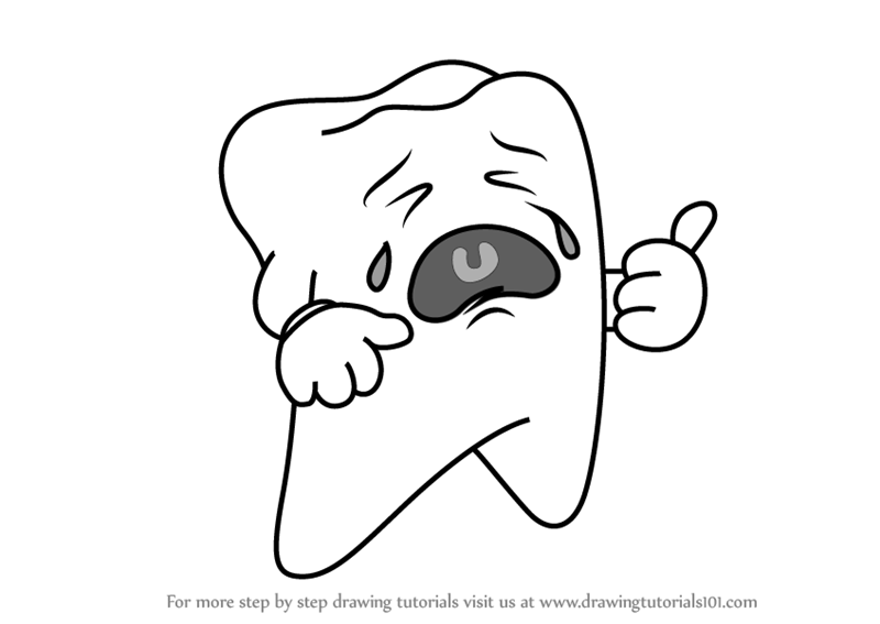 clip stock Drawing tooth. Learn how to draw