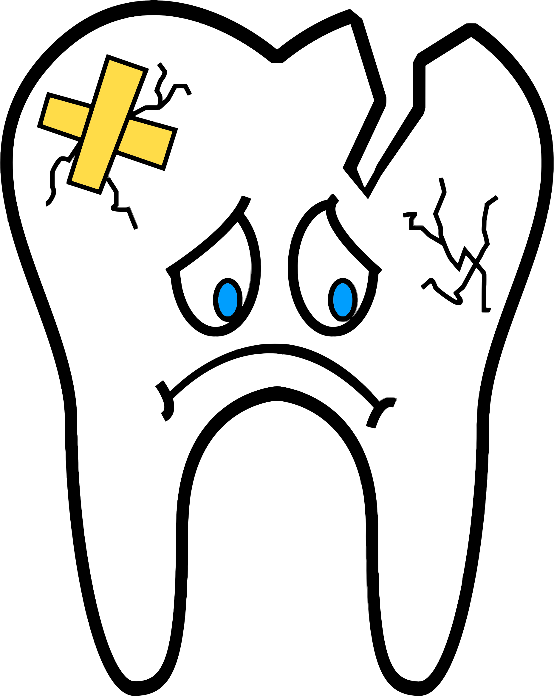 royalty free stock Drawing tooth cartoon.  teeth png for