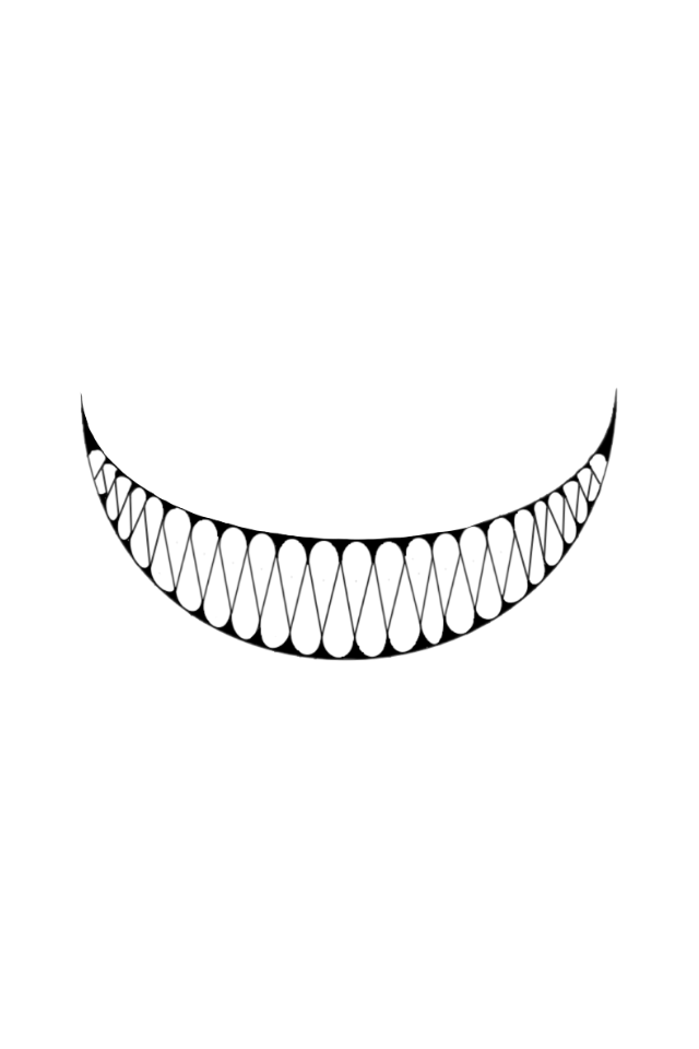 graphic Collection of free teeth. Drawing tooth creepy