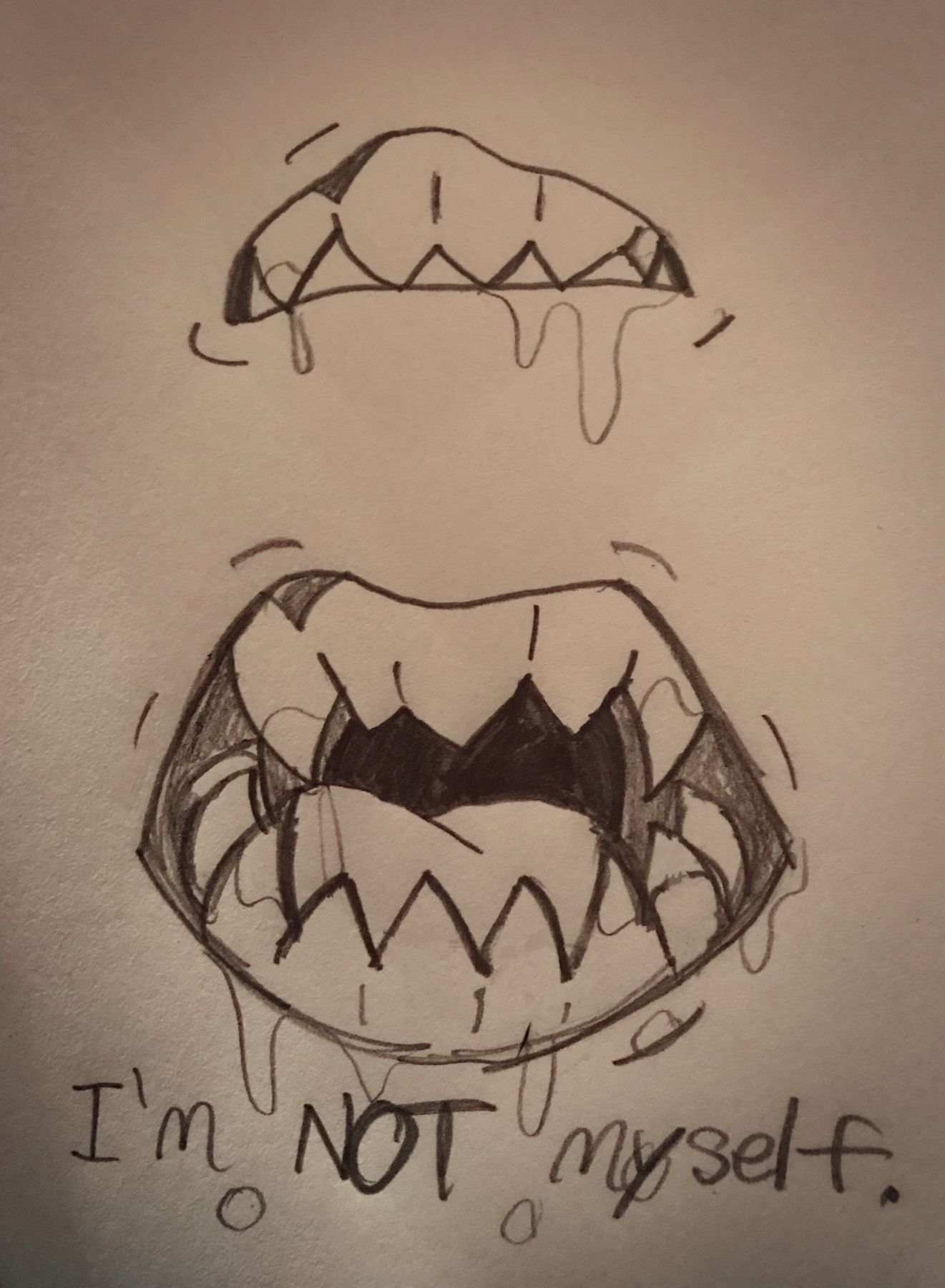 clip free download I m not myself. Drawing tooth creepy