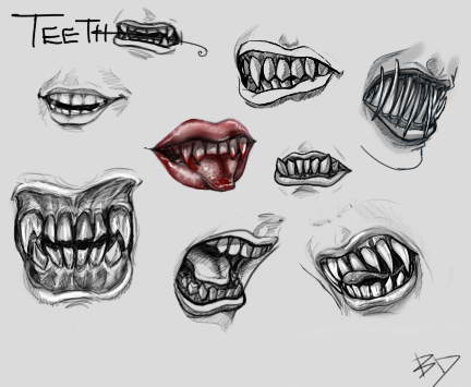 image black and white download Teeth sketches by blackdahlia. Drawing tooth creepy