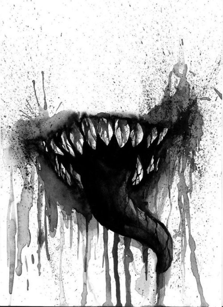 picture transparent Drawing tooth creepy. Scary mouth at paintingvalley