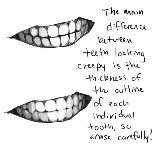svg freeuse library Drawing tooth creepy. Tutorials art instruction in