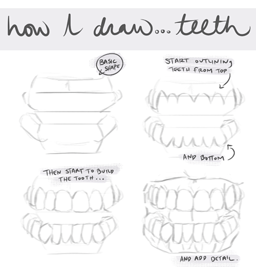 vector black and white Drawing tooth reference. My art teeth digital
