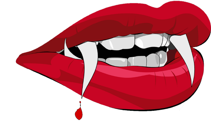 download Collection of free teeth. Drawing tooth vampire