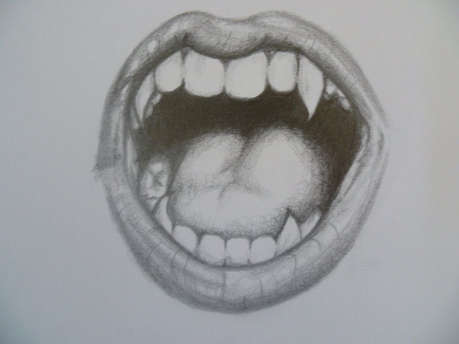 picture free Pencil teeth google search. Drawing tooth vampire