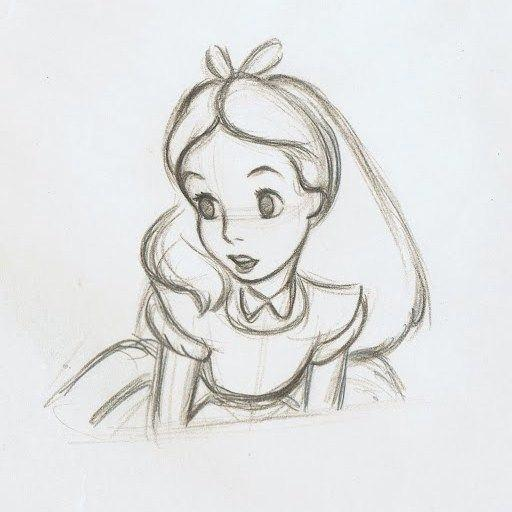 clip library Pencil sketch colorful . Drawing topic alice in wonderland