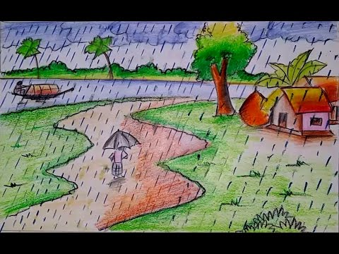 vector How to draw a. Drawing topic rain