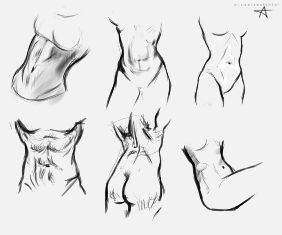 banner royalty free library Sketch by hausofalex on. Drawing torso.