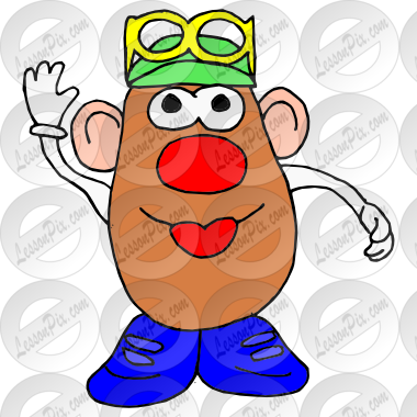 jpg black and white download Picture for classroom therapy. Drawing toy mr potato head