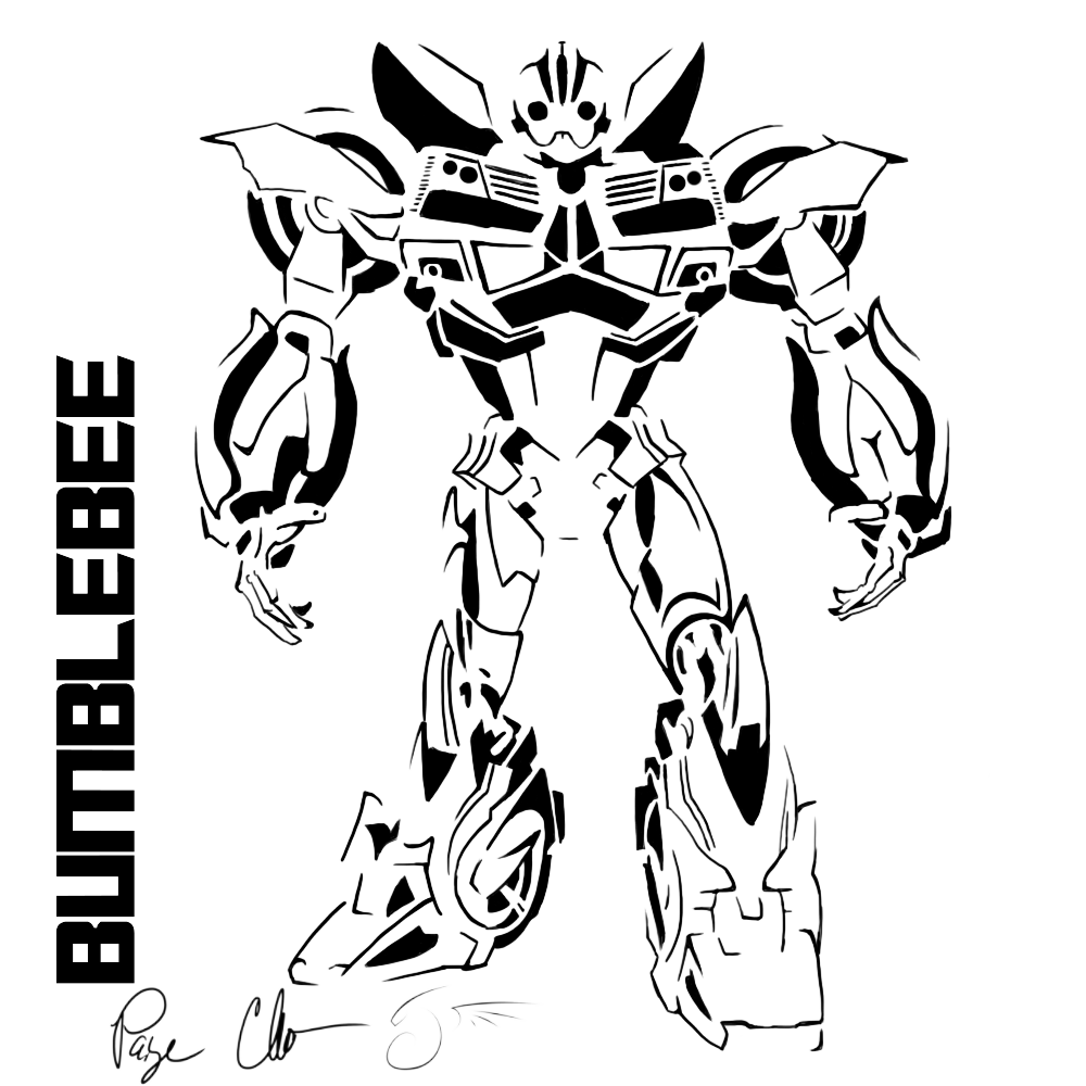 clip freeuse download Transformer Bumblebee Drawing at GetDrawings
