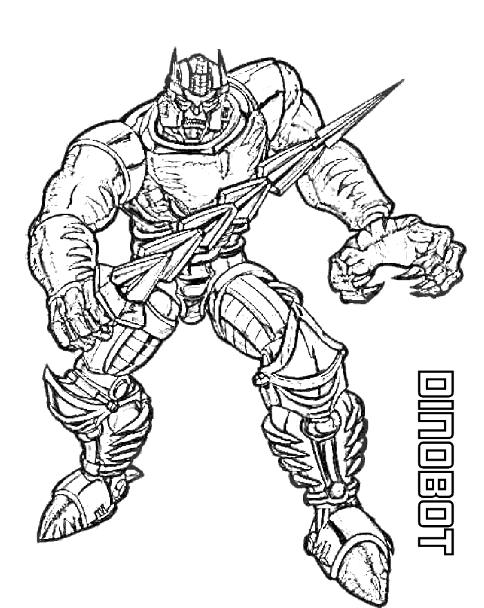 picture royalty free Dinobot Transformers Coloring Page