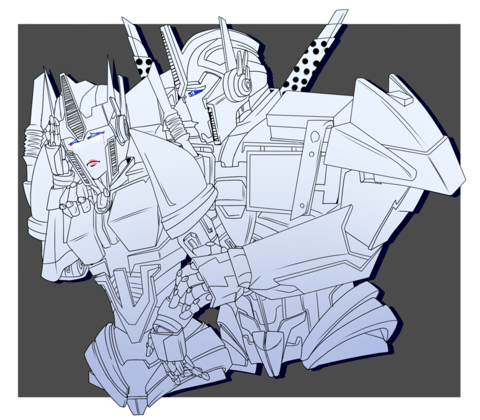 jpg royalty free library Causeway and Optimus Prime Sketch Commission by putt