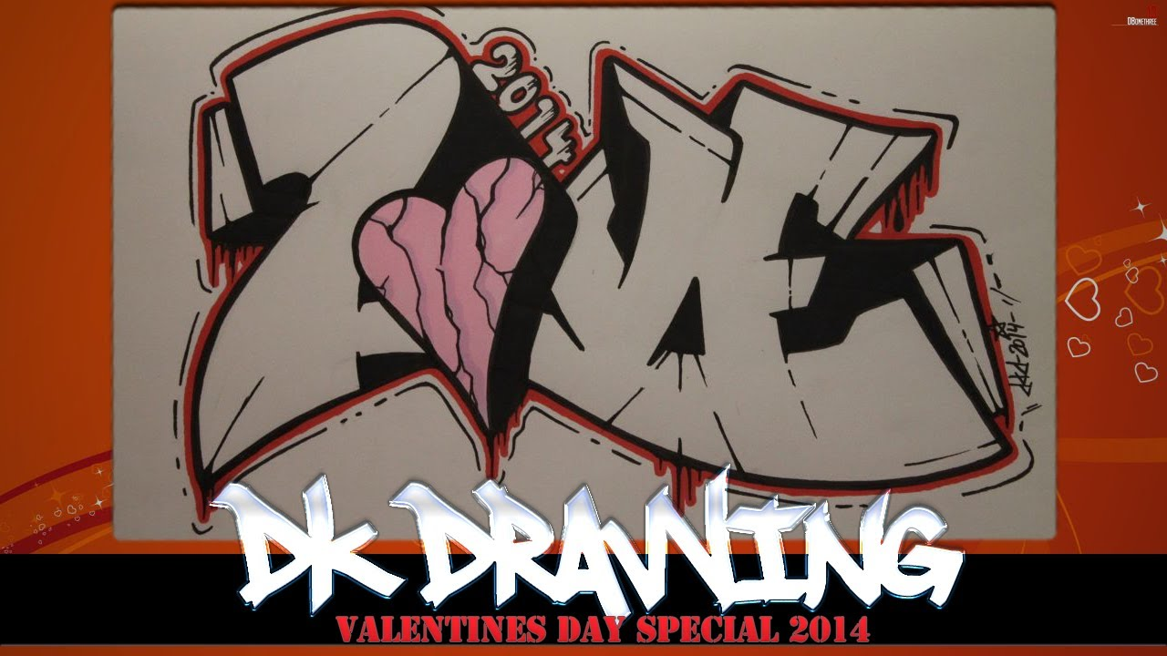 clip art library download How to draw love. Valentine drawing graffiti