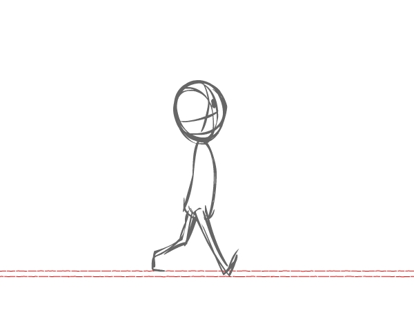 picture black and white library Drawing walking. Animation for beginners how