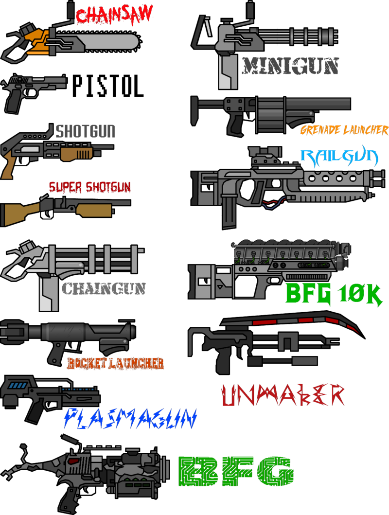png library download Doom bfg weapon drawings. Vector cannon musket
