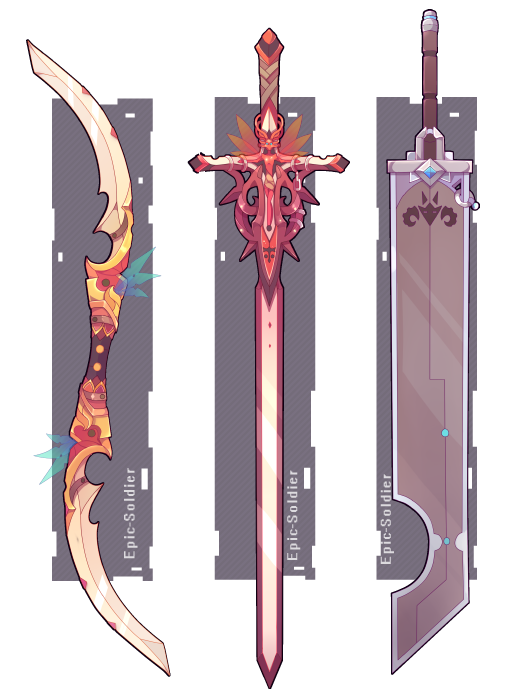 clip transparent library Drawing random weapon. Commission by epic soldier