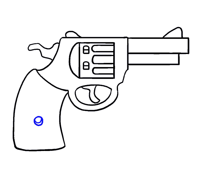 clip royalty free download How to Draw a Cartoon Revolver in a Few Easy Steps