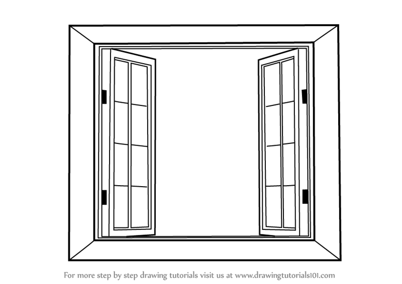 vector royalty free library Windows drawing. Learn how to draw