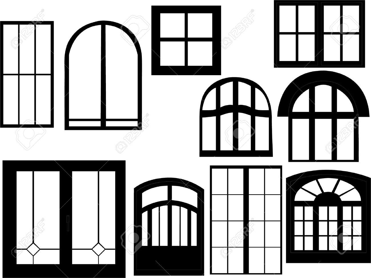royalty free stock window frame outline
