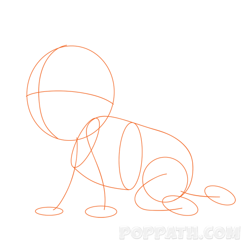 vector transparent How To Draw A Baby Crawling