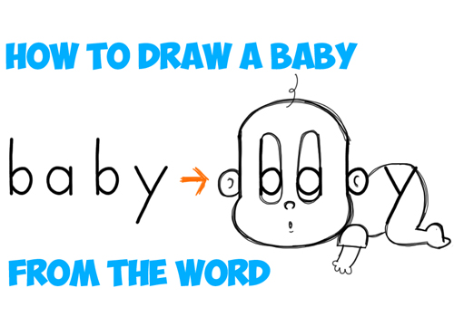 transparent Drawing out word. How to draw a