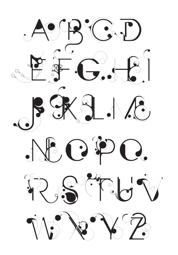 clip download Art abecedaires alphabet . Typography drawing word