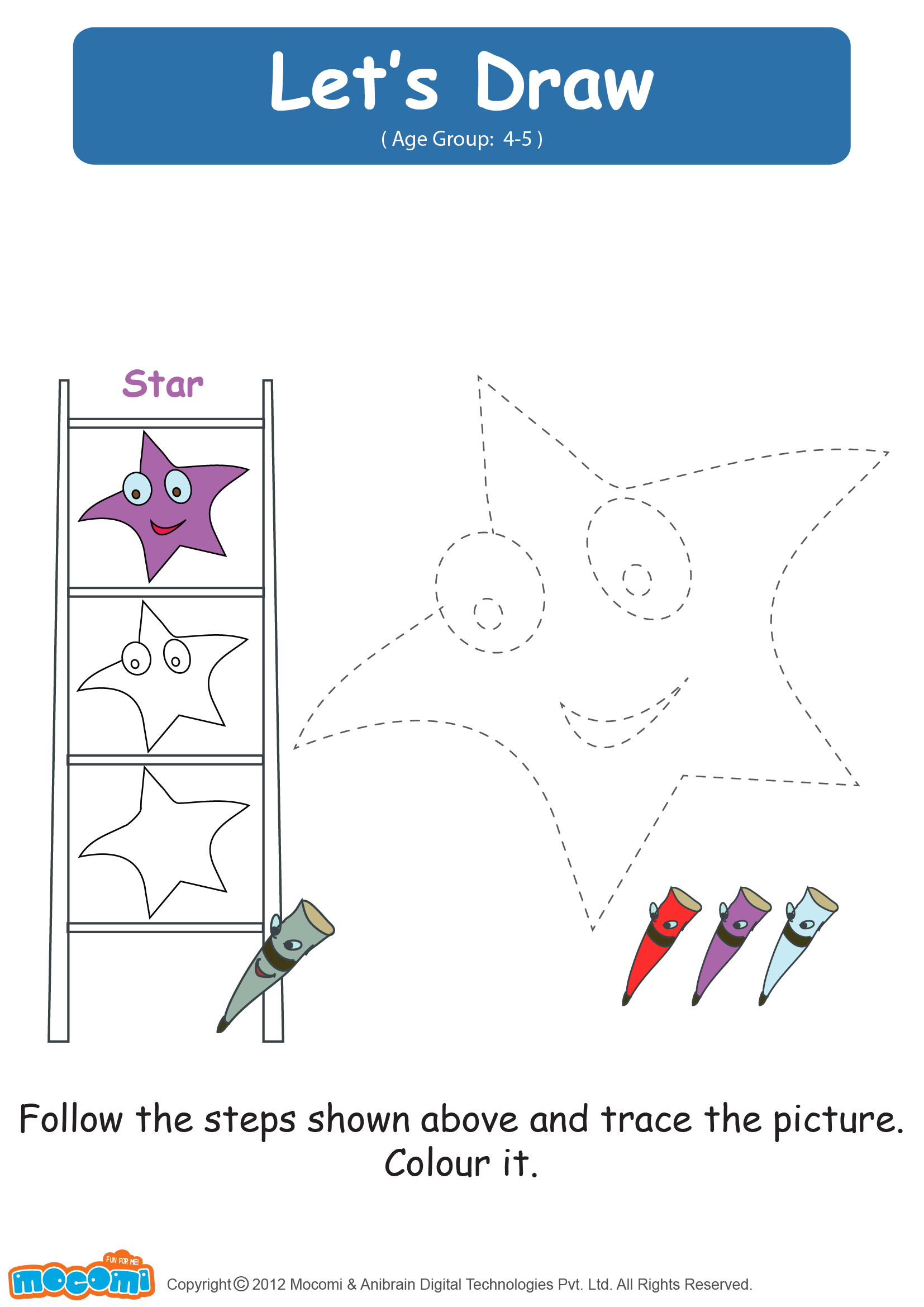clip art free download Lets Draw a Star