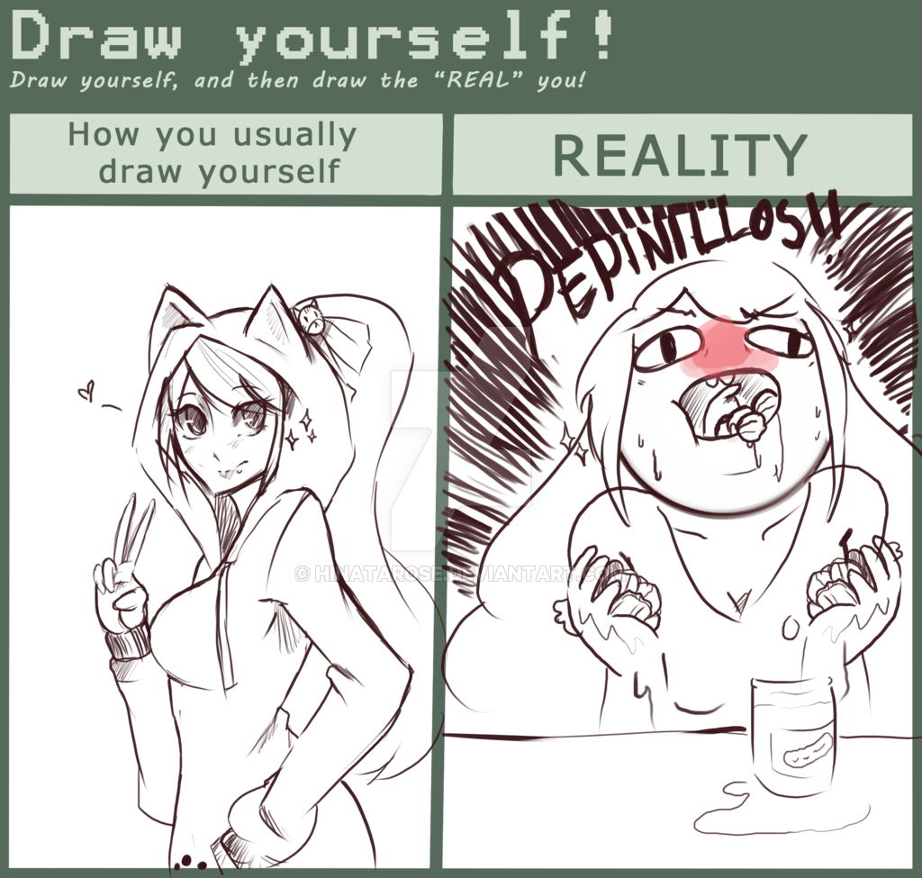 jpg black and white Draw yourself meme by HinataRose on DeviantArt