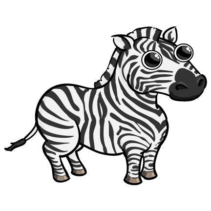clip art black and white download funny zebra drawing