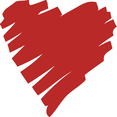 clipart transparent stock Drawn Red Heart Clipart