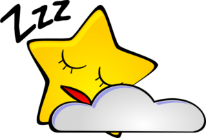 graphic free Sleeping Star Clip Art at Clker