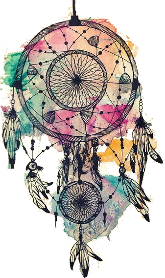 banner black and white library transparent dream catcher