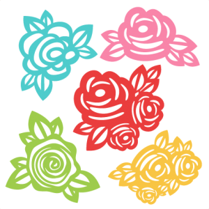 clip transparent Flowers SVG scrapbook cut file cute clipart files for silhouette