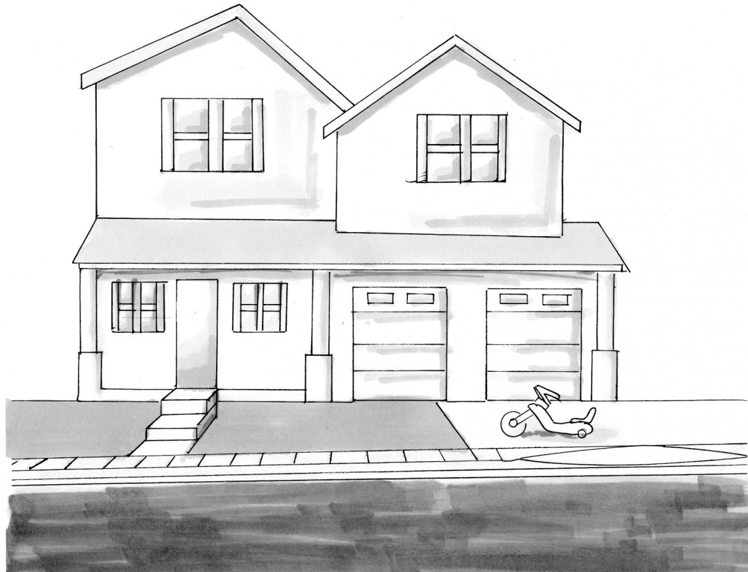 clipart freeuse Dream House Sketch Design Simple Architecture Drawing Of My