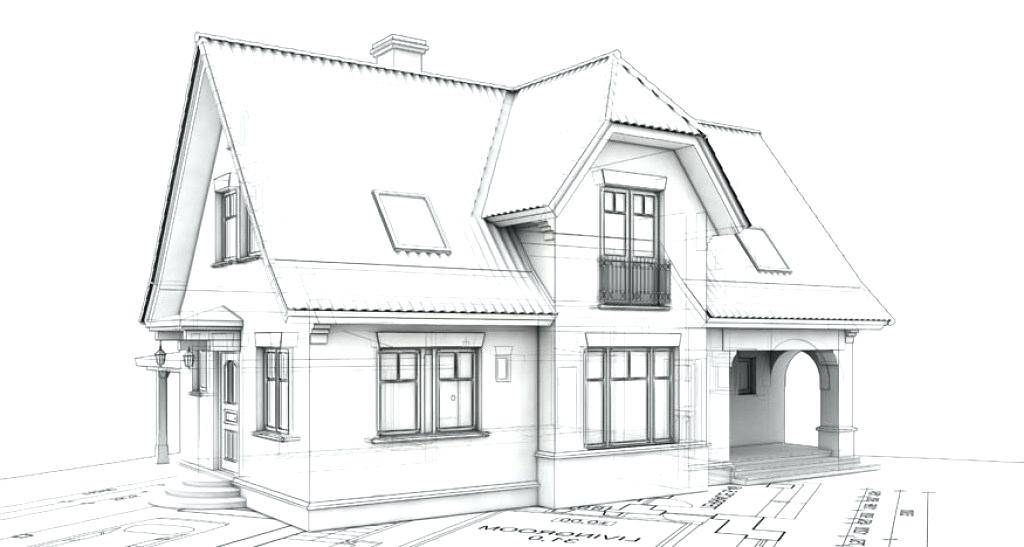 graphic stock Houses drawing dream house. Design simple adorable architectures.