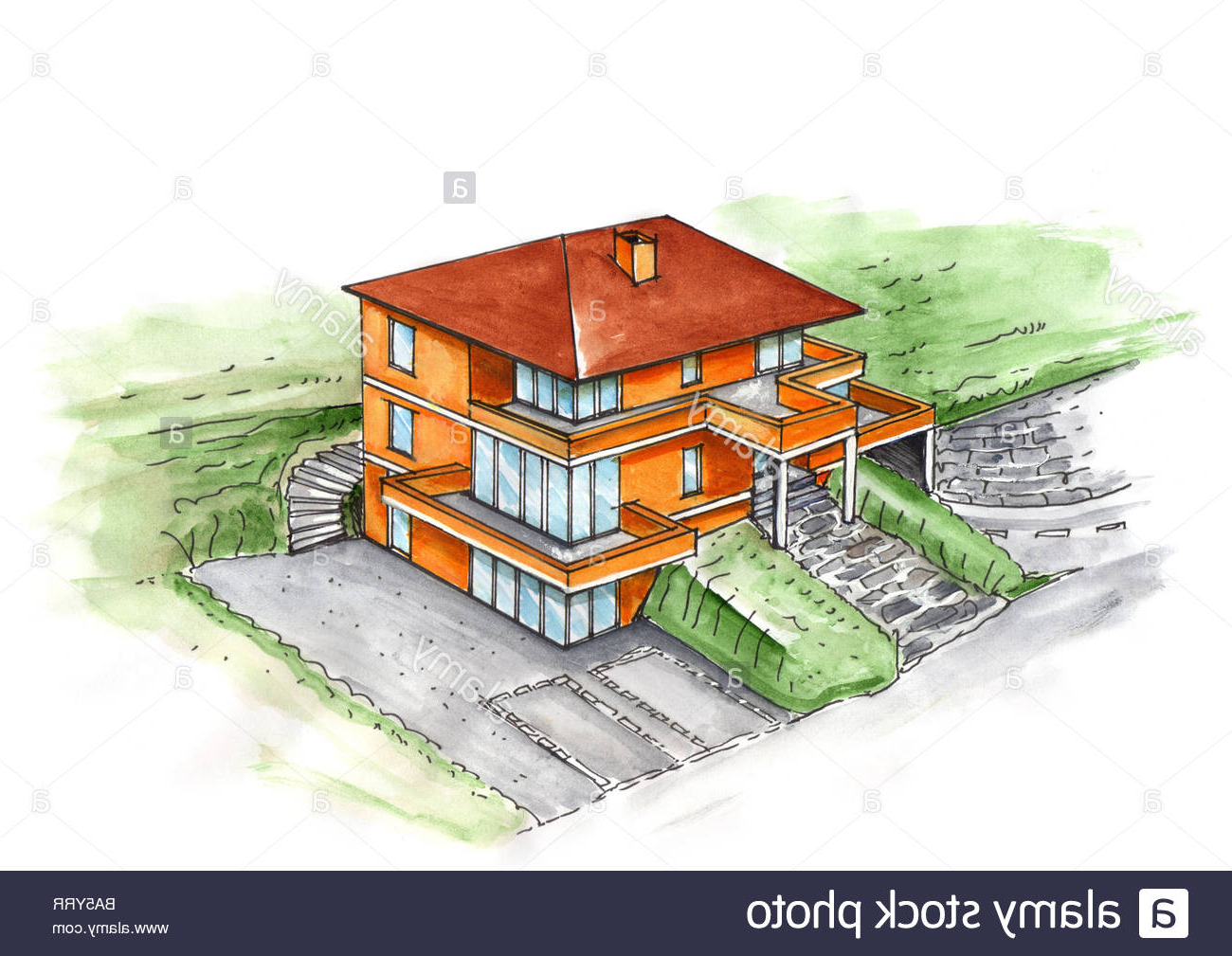 png black and white download Dreamhouse Drawing at GetDrawings