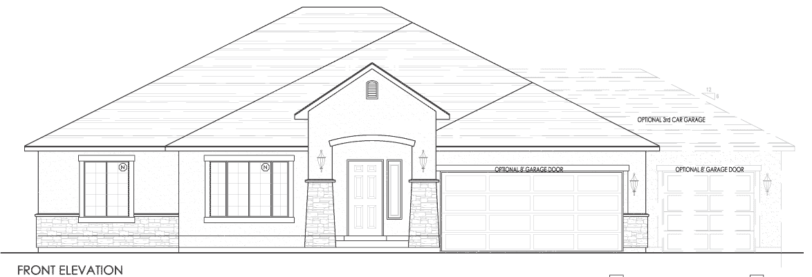 vector black and white download Exterior Floor Plan Elevation