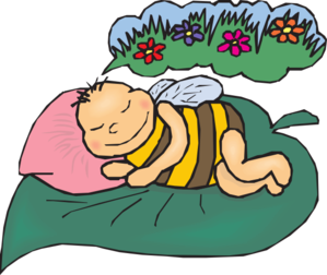 royalty free stock Dreaming clipart. Bee clip art at
