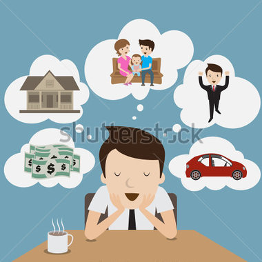 royalty free stock Dreaming clipart dream family.