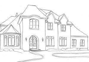 clip art freeuse stock Sketch at paintingvalley com. Houses drawing dream house.