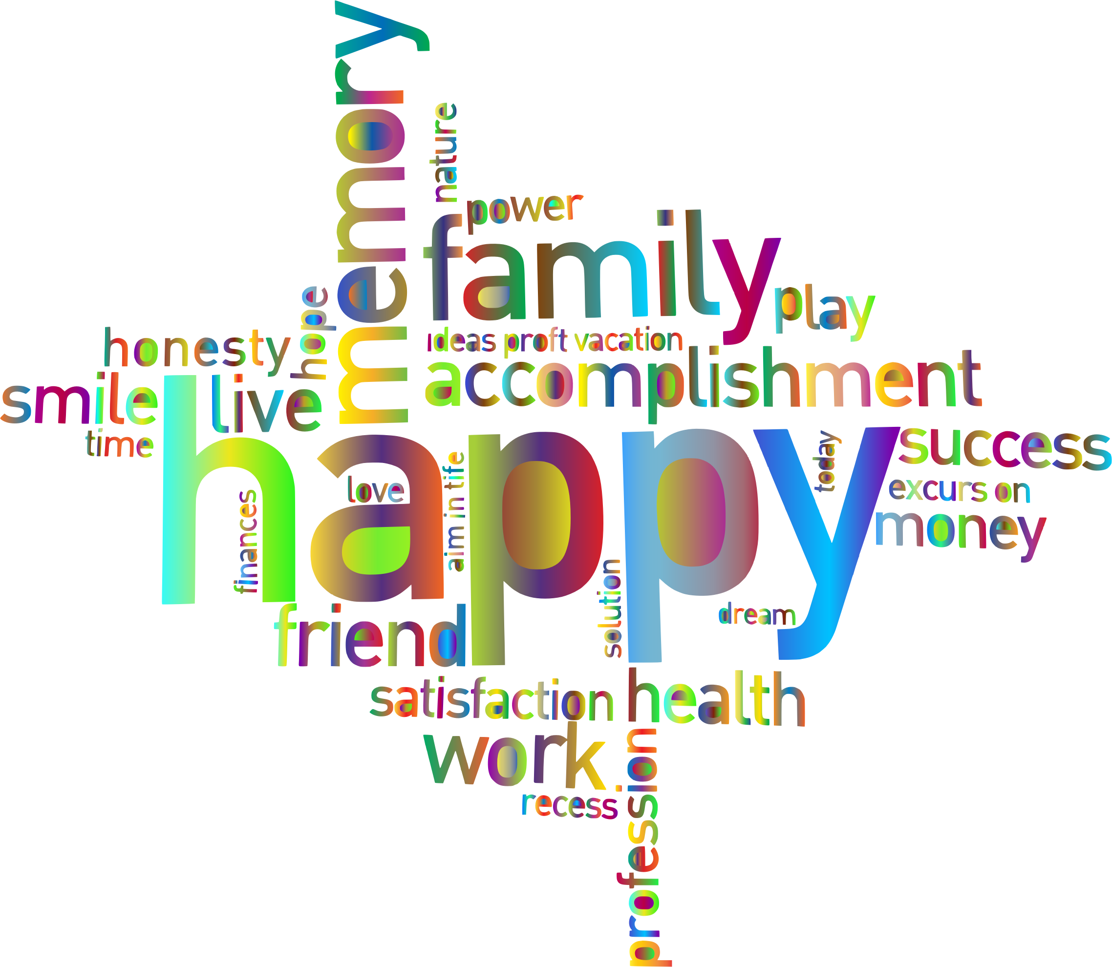 svg free library Dreams clipart word. Prismatic happy family cloud