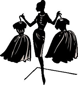 svg free stock Designer silhouette clip art. Fashion clipart