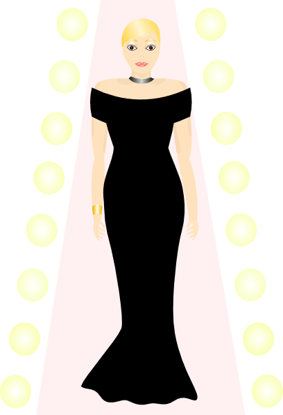svg free download Gown clipart small dress. Woman in black clip