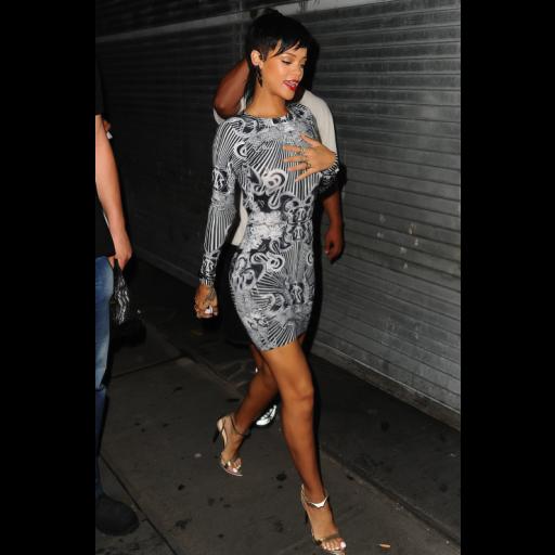 graphic free Dress transparent celebrity. Rihanna inspired monochrome mirror