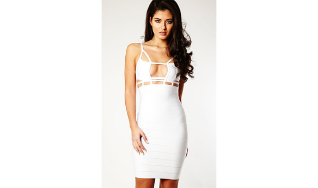 svg library download Cream bandage sleeveless backless. Dress transparent celebrity