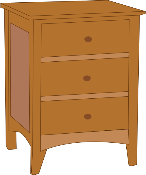 svg transparent library Dresser clipart. Table clip art at.