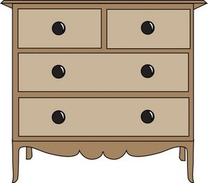 vector library download . Dresser clipart.